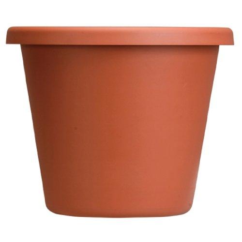Classic Round Pot Clay - Akro Mils LIA24000E35 Classic Pot, Clay Color, 24-Inch