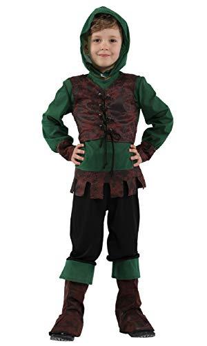 Kids Boys Robbin Hood Costume Medieval Prince Hunter Cosplay Fancy Dress Up (8-10) ()