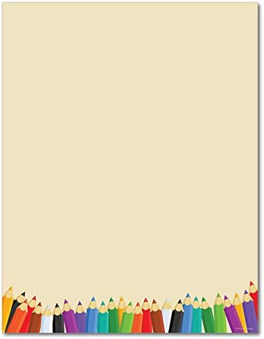 Back School Stationery Paper Sheets