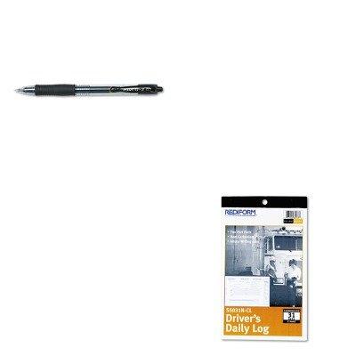 (KITPIL31020REDS5031NCL - Value Kit - Rediform Driver's Daily Log (REDS5031NCL) and Pilot G2 Gel Ink Pen (PIL31020))