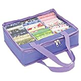 Quilters Fat Quarter Fabric Storage Bag Mini - Purple