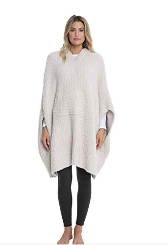 Barefoot Dreams CozyChic Ribbed Cozy (Almond) (Ribbed Poncho)