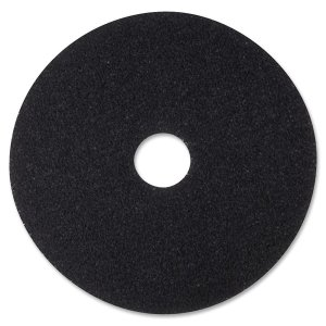 3M Stripper Floor Pad 7200, 12 inch, Black, 5/Carton