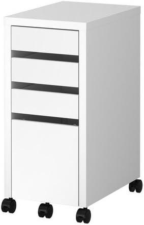 ikea micke unite de tiroir avec rangement baisse fichier blanc 35x75 cm