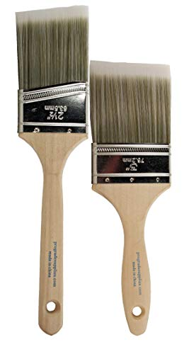 Pro-Grade Home Wall/Trim House Paint Brush Set Great for Professional Painter and Home Owners Painting Brushes for Cabinet Decks Fences Interior Exterior & Commercial Paintbrush. (2pk Soft)