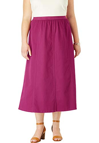 Jessica London Women's Plus Size Jegging Skirt - Berry Twist, 20