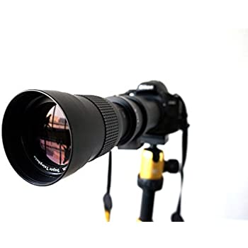 Lightdow 420-800mm F/8.3-16 Super Telephoto Manual Zoom Lens + T-Mount for Nikon DSLR
