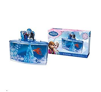 Disney Frozen Betta Fish Tank Plastic Aquarium Kit with Cover & ()