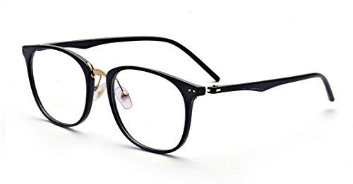 Outray Vintage Small Nails Square TR Frame Clear Lens Glasses 2175c1 Black