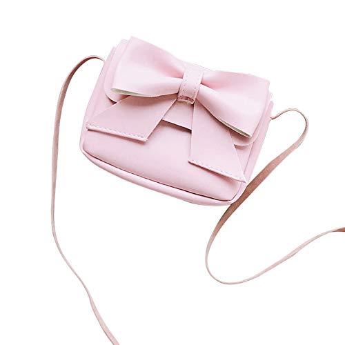 In Bowknot Pacchetto Bambini Rosa Borsa Pelle Ragazze Carino Eucoo Donna A Mini Tracolla Portamonete Diagonale X7Aq0v