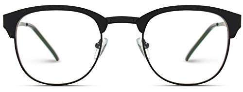 - WearMe Pro - Metal Frame Modern Clear Lens Non-Prescription Glasses