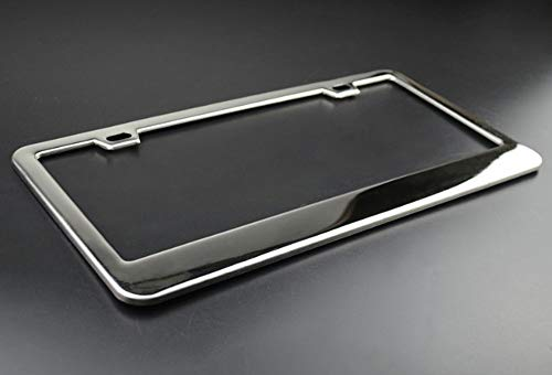 Product Express American Staghound Dog Paw Print License Plate Frame Tag Cover & Holder Black 2