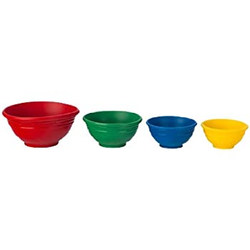 Le Creuset Silicone Prep Bowls Set of 4, Multi-colored
