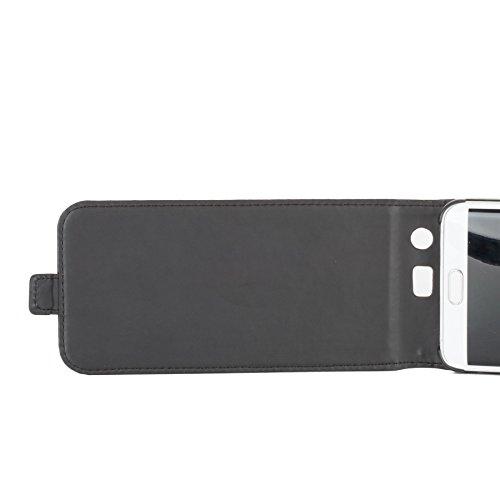 Snakehive® Samsung Galaxy S6 Edge Plus Cuero Laminado Funda volteable para Samsung Galaxy S6 Edge Plus (Color Negro) Color Negro