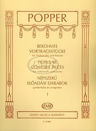 Editio Musica Budapest Popular Concert Pieces - Volume 1 (Cello and Piano) EMB Series Composed by David Popper ()