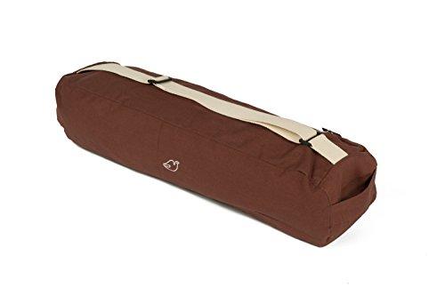 Blue Dove Yoga Chennai Yoga Mat Bag Made from Organic Cotton (Chocolate)