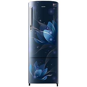 Samsung 255 L 3 Star Inverter Direct-Cool Single Door Refrigerator (RR26T373YU8/HL, Saffron Blue)