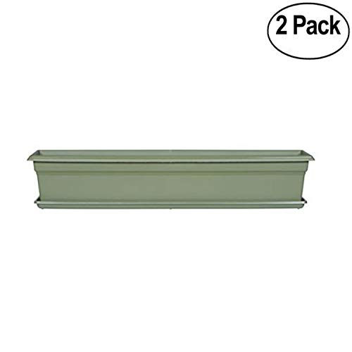 Novelty Countryside Flower Box Tray, Sage, 36-Inch - 2 Pack