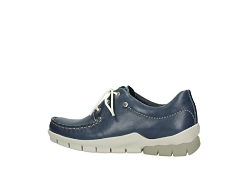 70870 70570 1750 Scarpe Blau Stringate Wolky Donna Leder q71Xwx6
