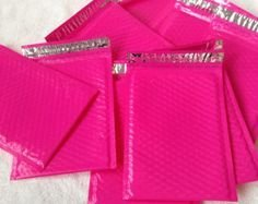 30 Hot Pink Padded Bubble Mailers 6 x 9 inches