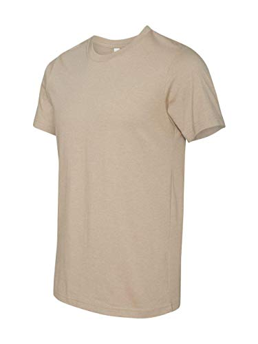 Bella 3001 Unisex Jersey Short Sleeve Tee - Heather Tan, Extra Small