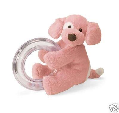 Gund - Spunky Ring Rattle (Light Pink)
