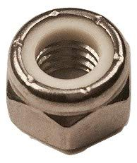 Serval Products 5/16-18 Nylon Insert Lock Nuts Stainless Steel 18-8 (304) Stop Nut Pack 50 by Serval Products