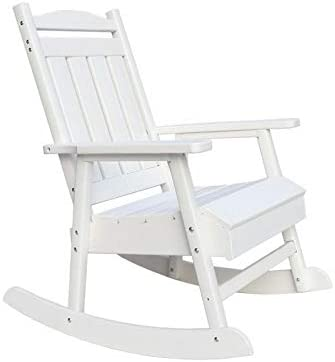 Pemberly Row Eco-Friendly Recycled Resin Lumber Outdoor Patio Rocker/Rocking Chair