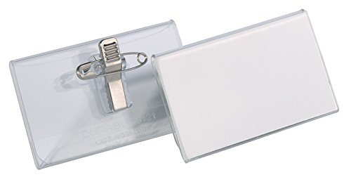 Durable Combi Clip Badge - Durable 40X75Mm Combination Clip Badge (Pack Of 25)