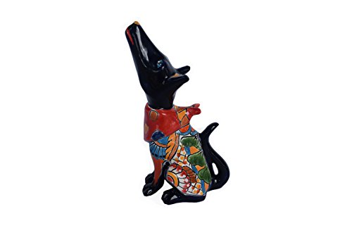 Cheap  Coyote South West Ceramic Talavera Colorful Handcrafted Home Kitchen Patio Garden Design..