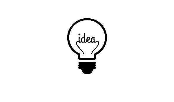 Cchpfcc Idea Cargando Pegatinas De Pared Bombilla Lámpara Ventana Car Diy Etiqueta De Vinilo Silueta Clip Art Vector Plotter Cortar Decoración Murales Size43 * 59Cm: Amazon.es: Bricolaje y herramientas