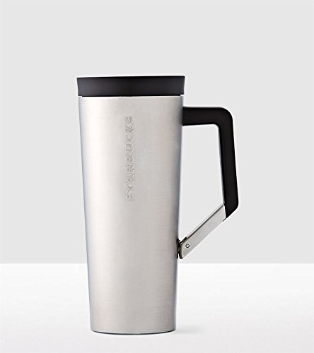 STARBUCKS Stainless Steel Clip Tumbler (16 Ounce, Steel) - 16 Ounce Clip
