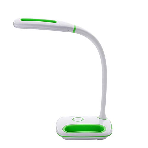 USB Eye Protection Lamp - Adjustable Light for Both Kids and Adults, Natural Light LED Table Lamp for Boys and Girls, Eye-caring Light with Charging &Lithium Battery for Home and Office, Students Reading Lamp green