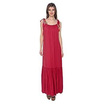 Cocum Maxi Dress For Women - 12 Uk, Red
