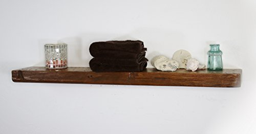 Floating, Wood Shelf, Reclaimed, Rustic, Shelves, 1800's, Antique, Vintage, 30'' Wide x 5'' deep x 2'' Thick