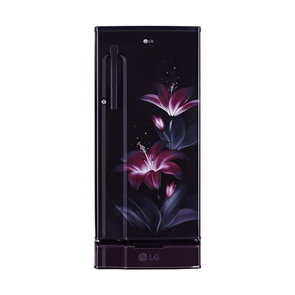 LG 188 L 3 Star Direct-Cool Single Door Refrigerator (GL-D191KPGD, Purple Glow, Base stand with drawer) 2021 July Direct-cool refrigerator: Economical and Cooling without fluctuation Capacity 188 litres: Suitable for families with 2 to 3 members and bachelors | Freezer capacity: 166.5L, Fresh food capacity: 21.5L Energy Rating: 3 Star