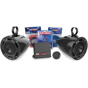 MTX MOTORSPORTS BORVKIT1 Bluetooth Tower 2-Speaker & Amplifier Off-Road Motorsports Package (Mtx Thunder Package compare prices)