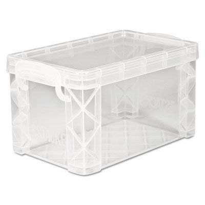 Super Stacker Storage Boxes, Hold 400 3 x 5 Cards, Plastic, Clear - Index Card Tray