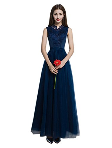 Drasawee Courte Tulle Robes De Retour À La Maison Robe De Cocktail De Bal Marine Blue1 #