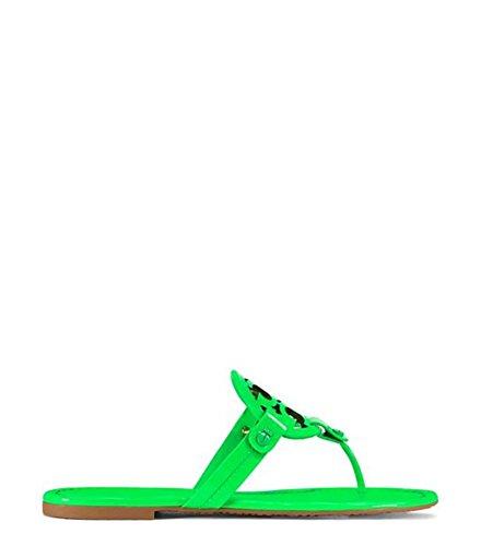 Tory Burch Women's Miller Leather Sandal (6.5, Fluo Green)