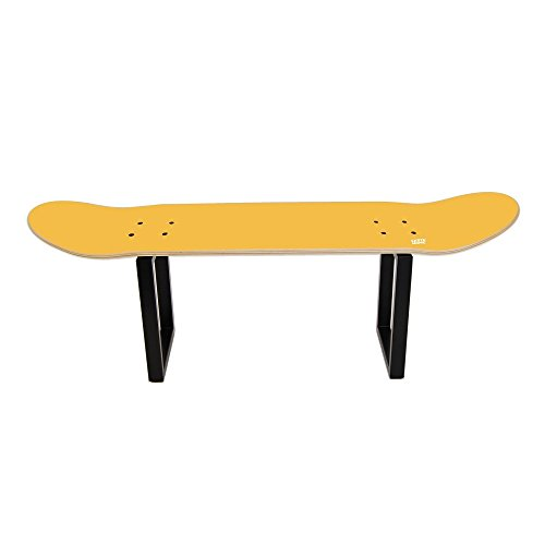Perfect skateboarder gift idea to decorate room office - Skateboard Furniture stool yellow by SKATE HOME