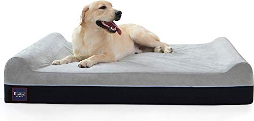 Laifug Orthopedic Memory Foam Extra Large Dog Bed with Pillow and Durable Water Proof Liner & Removable Washable Cover…