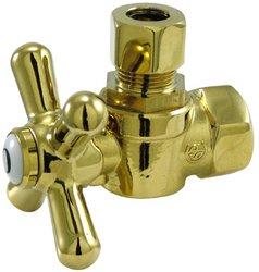 Kingston Brass Angle Stop - Kingston Brass CC33102X Vintage 3/8-Inch IPS x 3/8-Inch OD Comp Angle Stop, Polished Brass