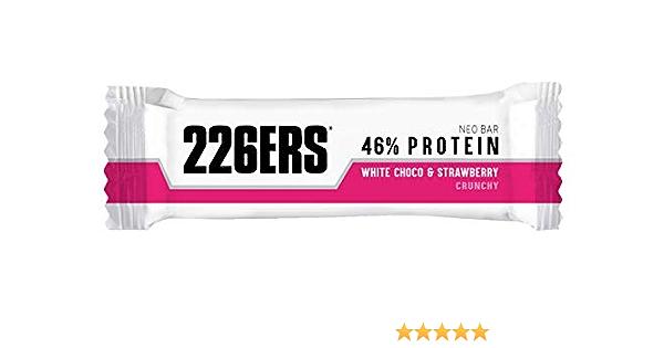 226ERS Neo Bar Protein, Barritas Proteína Bajas en Ázucar, Sin Gluten y Enriquecidas con Magnesio y Vitaminas, Chocolate Blanco & Fresa - 24 barras x ...