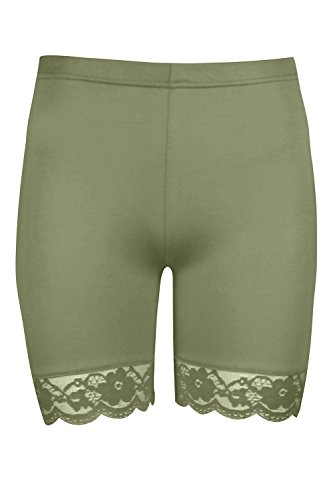 The Waist Fashion Length Celebrity Elasticated Knee Over Donna Khaki Pantaloncini Active PPrvaZx