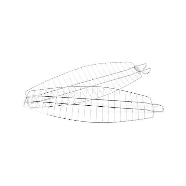 xiuJUNhoho Barbecue Grilling Basket Fish Meat Clip Hangable Grilled Fishes Folder Attrezzi da Picnic per Barbecue 2 spesavip