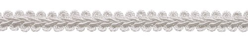 "DÉCOPRO 10 Yard Value Pack of 1/2"" Basic Trim French Gimp Braid, Style# FGS Color: White - A1 (30 Ft / 9.1 Meters)"