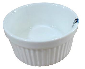 Sunrise Kitchen Supply 3D x 1.5H 4 oz 3D x 1.5H 1 Dz White Glazed Fluted Porcelain Ramekins