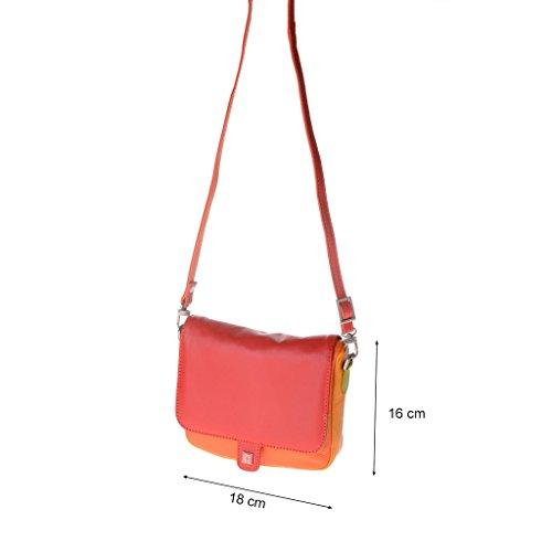 DuDu 534-1178-06 - Bolso al hombro de Cuero para mujer Rojo rojo compact