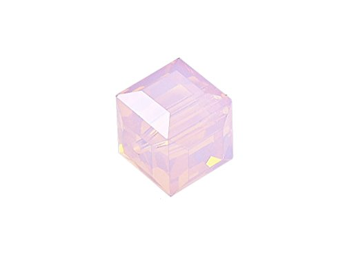 Wholesale Genuine Swarovski 5601 6mm Rose Water Opal Cube Beads, Choose Package Size (12) -